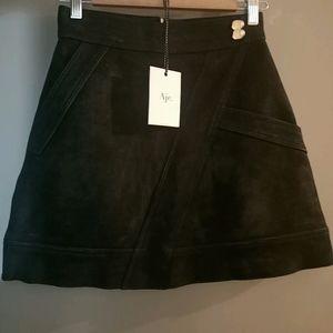 Aje Lux black Nubuck mini skirt *size 6 bnwt*